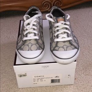 Grey Coach Tennis Shoes